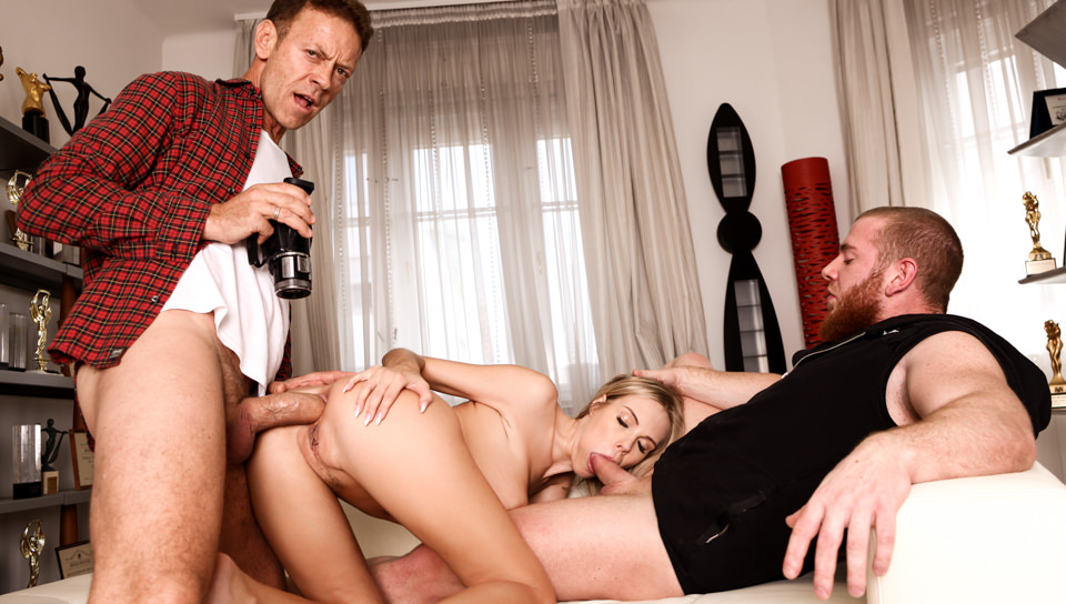 Florane Russel's Casting Threesome Sex