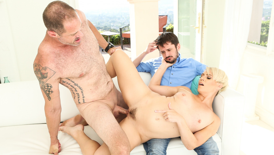 Cuck 'Em All #03, Scene #03 with Helena Locke, Slave Fluffy, D. Arclight on Devilsfilm's sex channel
