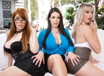 GirlsWay – Lipstick Lesbians – Penny Pax ,Brett Rossi , Angela White