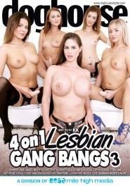 4 On 1 Lesbian Gang Bang #03 DVD Cover