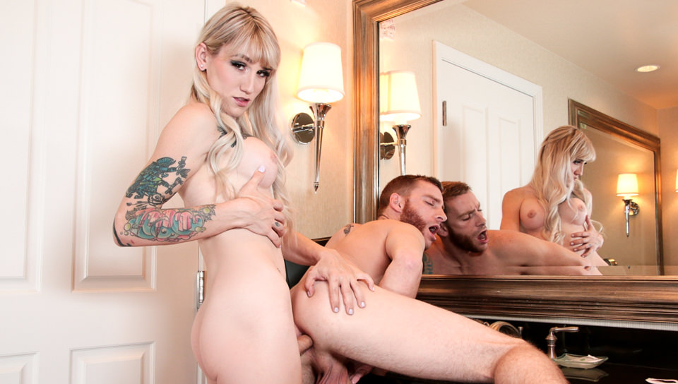 TS Lena & Boyfriend Trade Buttfucks – Sebastian Keys, Lena Kelly