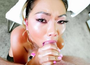Busty Asian MILF Lana's Deepthroat BJ