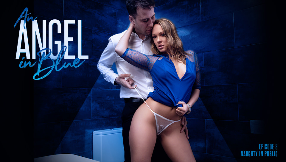 Download AssHoleFever - An Angel In Blue: Naughty In Public