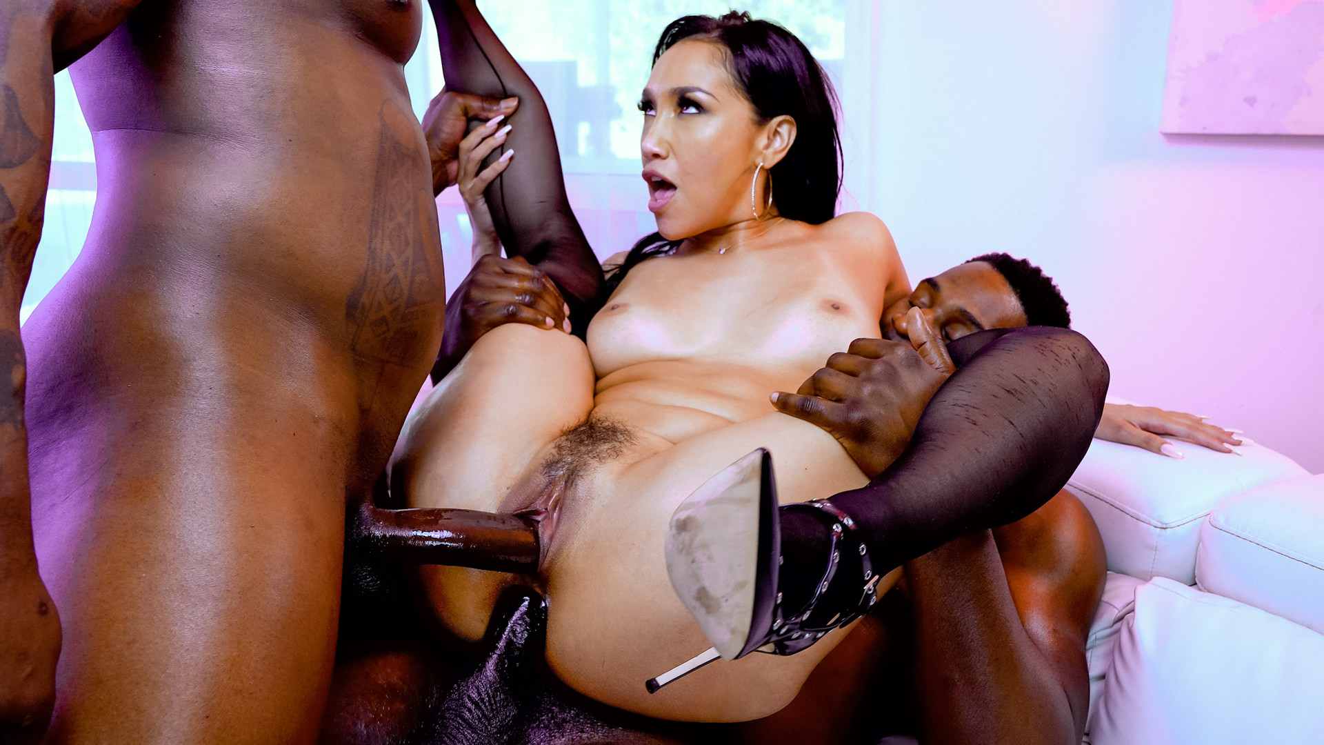 Vicki Chase: DP & Double BJ 3-Way!
